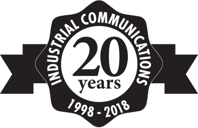 Industrial Communications 20 years logo